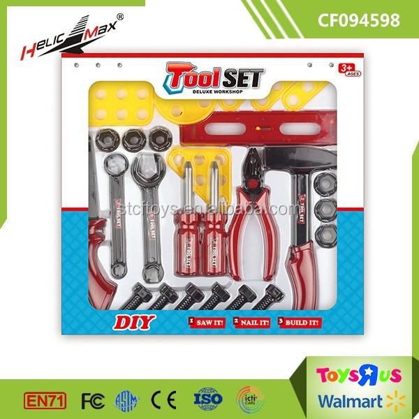 DIY Workshop Toy Plastic Childrens Tool Set with pliers, nail, screw, screwdriver