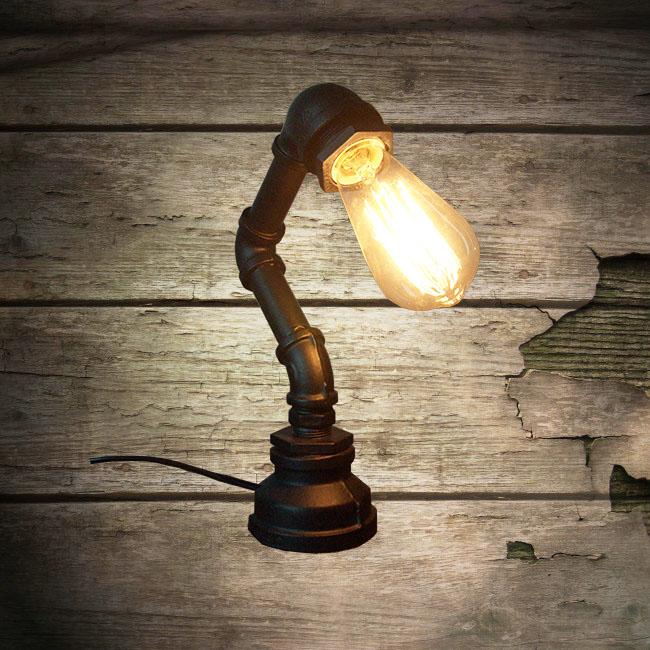 Whole Black Loft Vintage Steampunk Table Lamp Pipe Lighting Ns 125338