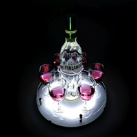 New Design Wine Glass and bottle Tray Holder With LED Light