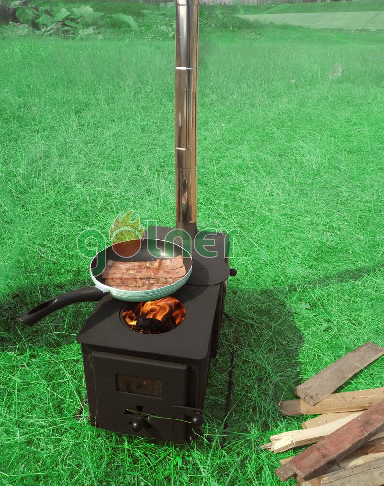 wood and coal burning camping stove, outdoors wood heaters with oven
