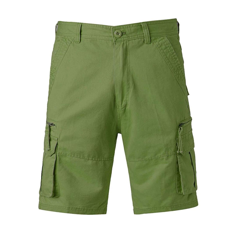 ONTBYB Mens Shorts Drawstring Solid Color Sports Shorts