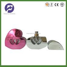Heart shaped perfume glass bottle with pump sprayer 60ml