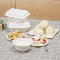 Compostable biodegradable custom order sugarcane disposables compartment meal tray