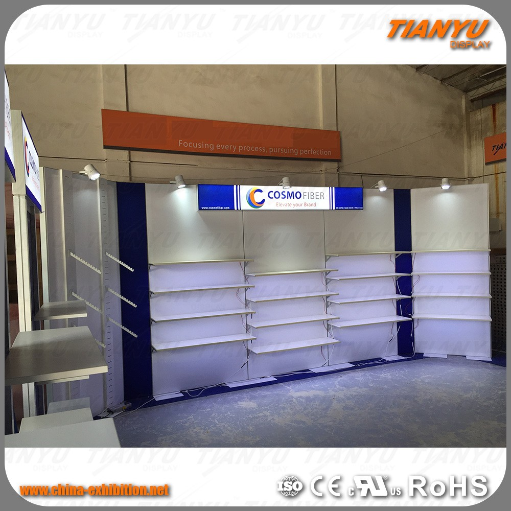 Fashion Design Aluminum Fabric Cosmetic Nail Polish Advertising Display Exhibition Stand