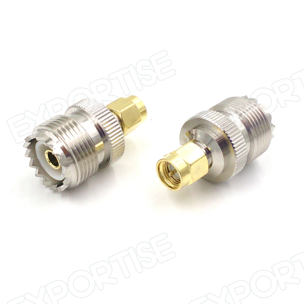 SMA Male to PL259 UHF Female Connector