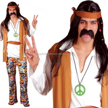 Adult Mens 60s 70s Hippie Hippy Man Groovy Woodstock Fancy Dress Costume Outfit B011  sc 1 st  Alibaba & Adult Mens 60s 70s Hippie Hippy Man Groovy Woodstock Fancy Dress ...