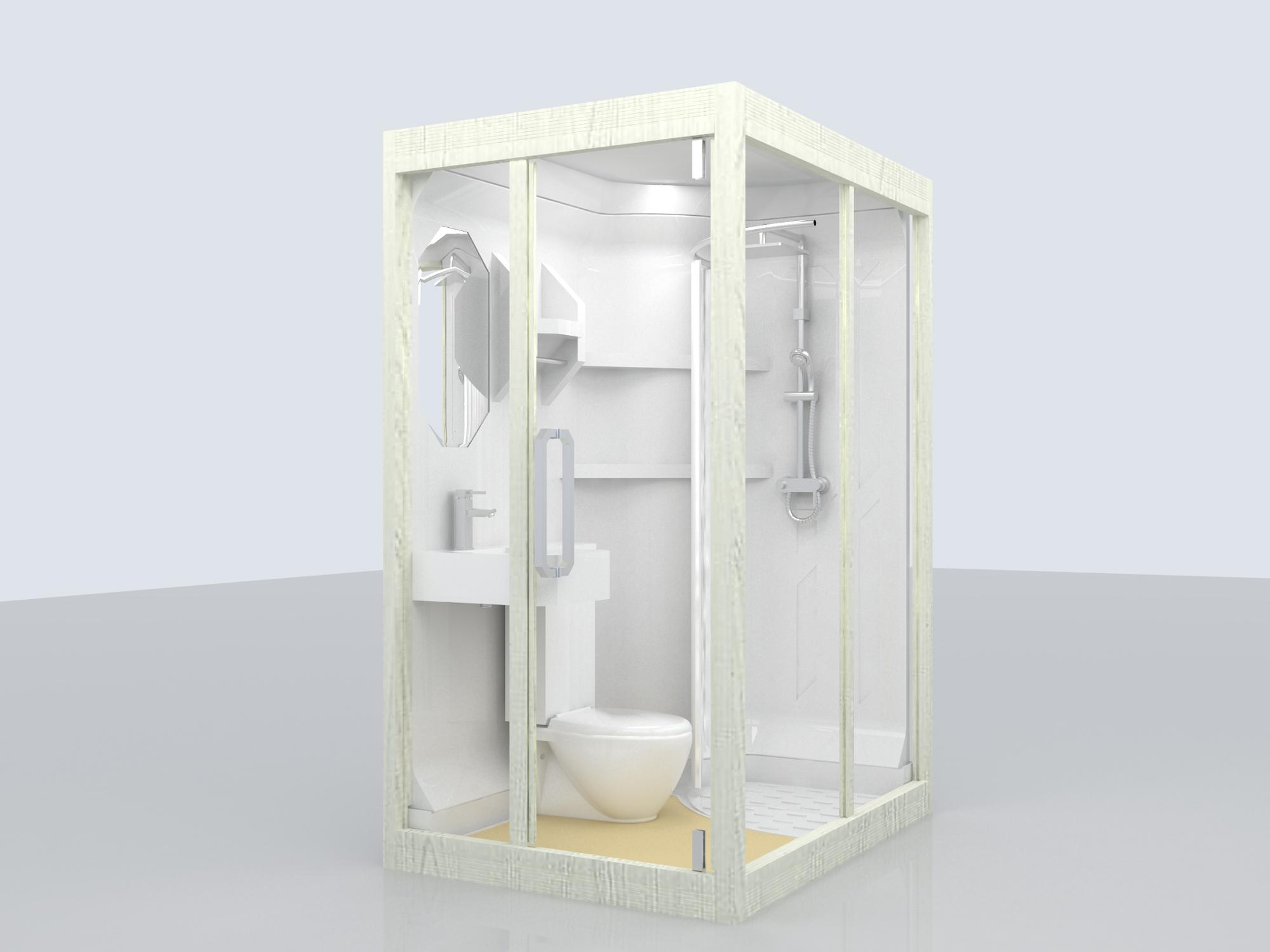 China Suppliers Prefab Shower And Toilet Modular Bathroom