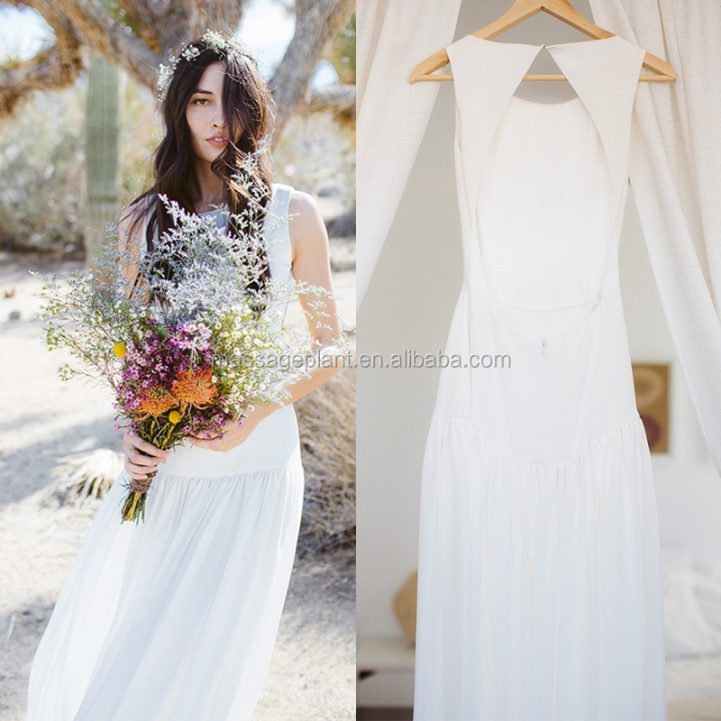Handmade Simple Bridal Dress Boho Gown Casual Wedding Ceremony Dress Ivory Wedding Dress Vintage Gown Buy Handmade Wedding Dress Wedding Ceremony