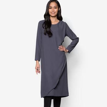 Plus size tunic tops design custom moss crepe blank long tunic wholesale  2018, View long tunic, OEM Product Details from Dongguan Xitiya Fashion  Co., ...