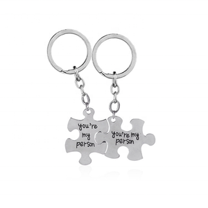 You're My Person Couple Keychain Matching Best Friend Couples KeyChain For Boyfriend Lovers Best Friends
