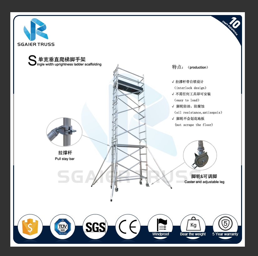 High Quality Mobile Tower Used Aluminum Scaffolding for Construction