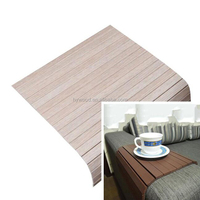 Foldable Clean Sofa Arm Tray Table Bamboo Mat