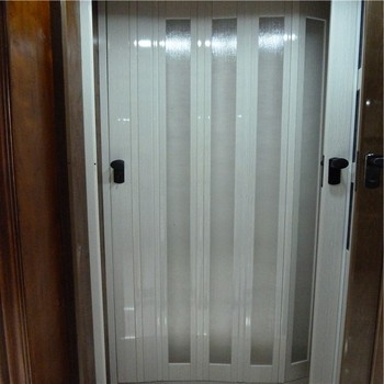 High Quality White Pvc Profile Plastic Sliding Folding Doors - Buy ...