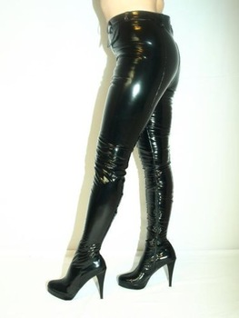 high heels latex rubber boots trousers size 3547