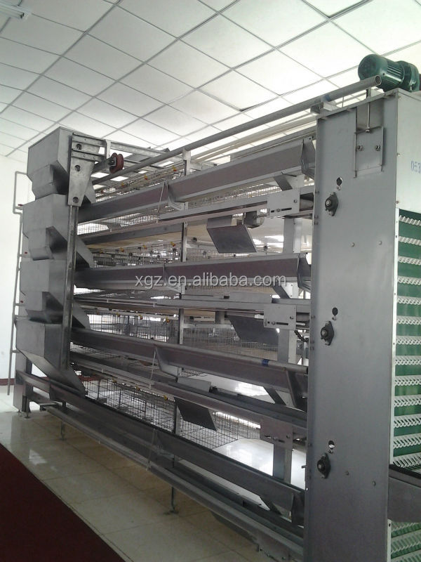Prefabricated steel poultry house and rear equipments system