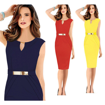 Custom New Style Fashion Dresses Women Lady Female Sleeveless Design Chic Sexy Dress