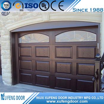 roble dorado de seguridad de hierro forjado puertas de garaje - buy