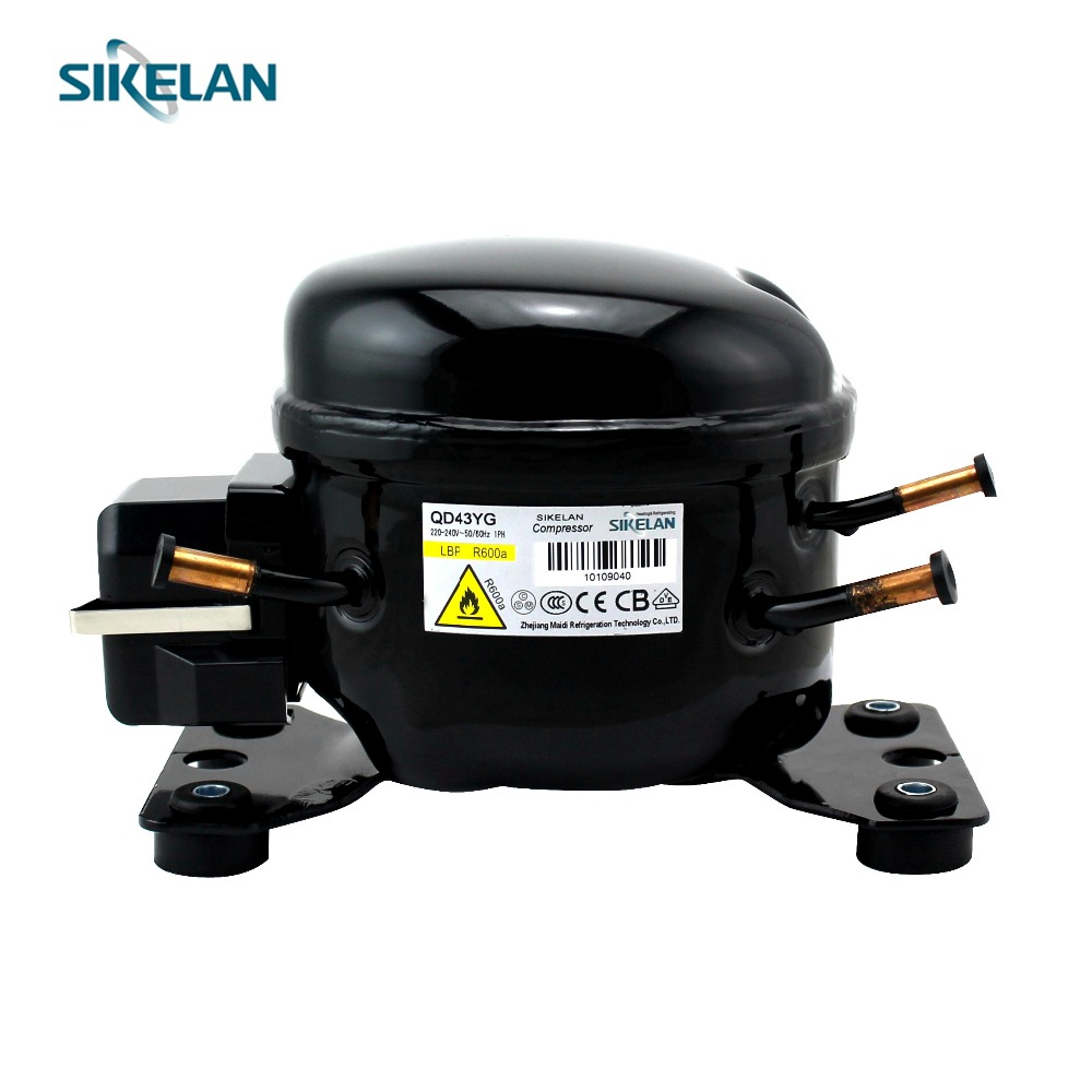 Good quality R600a AC hermetically sealed motor 1 10 hp refrigerator zel refrigeration compressor QD43YG