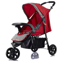 EN1888 approved European standard easy folding jogger three wheeler fancy baby stroller