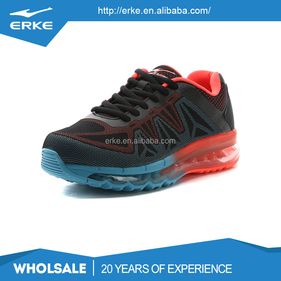 ERKE wholesale dropshiping brand breathable kintted mesh air sport running shoes for men