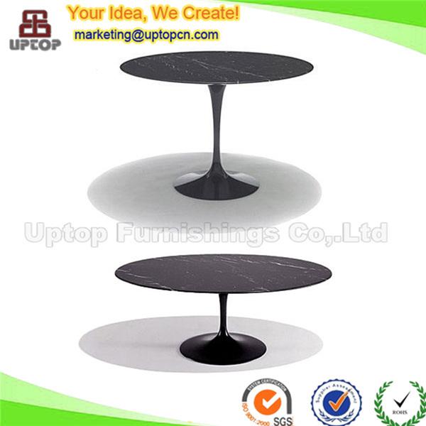 ( sp  gt350) zwarte melkweg wit carrera marmer eero saarinen tulp ovale tafel replica eettafels