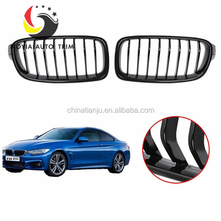 Gloss Black Grill For Bmw 3 Series F30 Front Auto Racing Grilles For