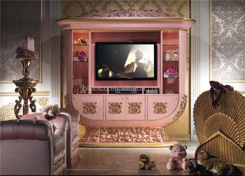 Italian Luxury Design Children Bedroom Furniture SetElegant Pink