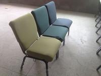 Simple design iron frame modern church chairs used church chairs sale