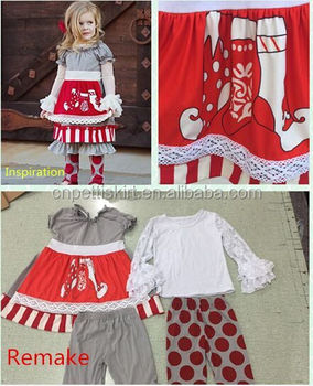 2017 Lastest Baby Girl Boutique Clothing Sets Cute Children Winter ...