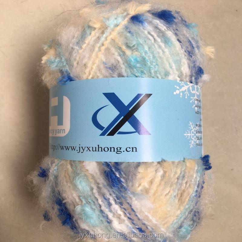 acrylic polyester blended napped yarn for knitting