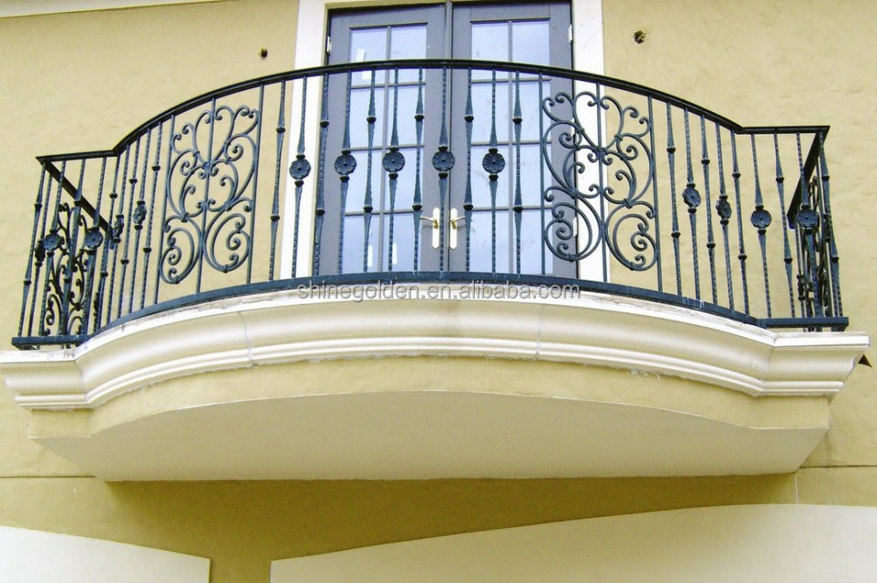 Best wrought iron balcony rail design new buy balcony for Balcony steel railing designs pictures