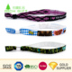 Free sample cheap custom personalized thermal transfer fabric cloth wristbands no minimum order