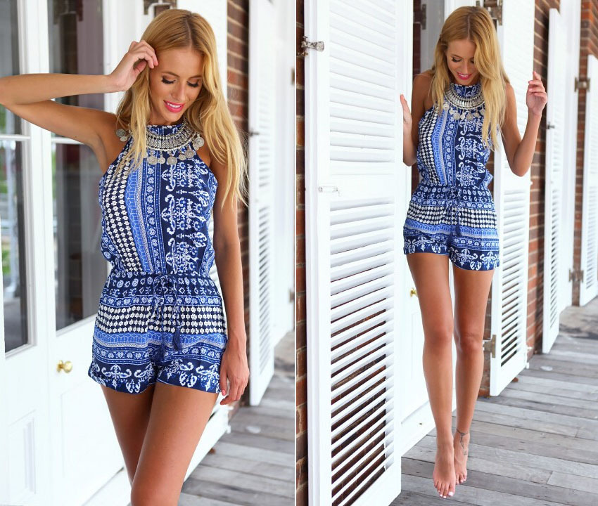 New Arrival Summer Sexy Slimming Sleeveless Romper Jumpsuits - Buy ...
