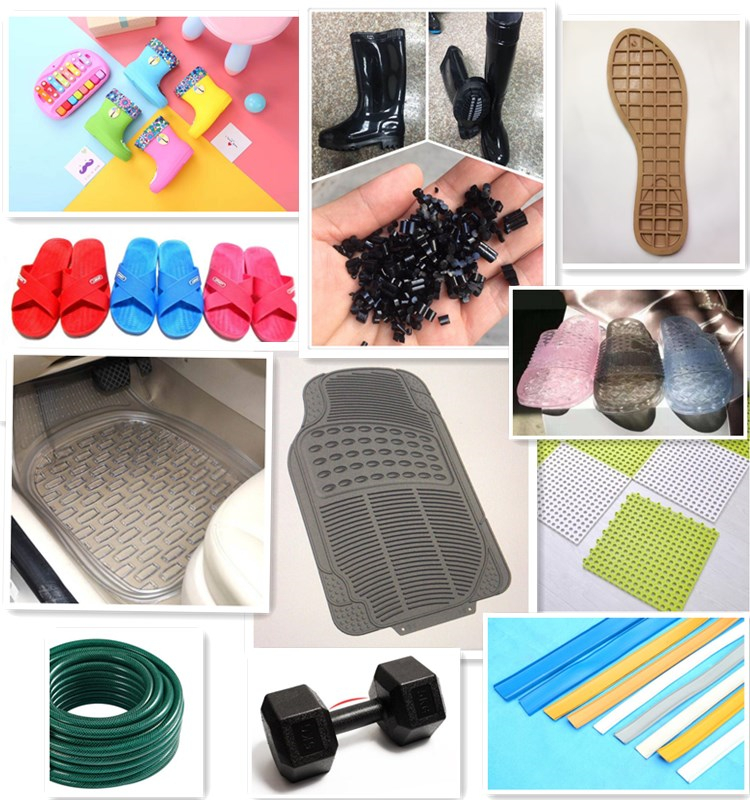 Factory direct hot sale black pvc material for sole