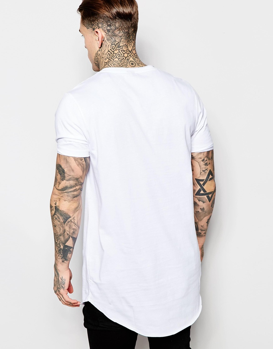 Wholesale Designer T Shirts With Print And Curved Hem 100