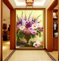 3D European painting Canvas picture Art HD Flowers Print Painting Set restaurant Canvas arts Unframed