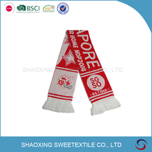 Factory Made Knitted Acrylic Singapore Scarf