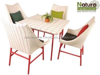 Thailand handmade outdoor garden rattan wicker dining for Outdoor furniture thailand bangkok