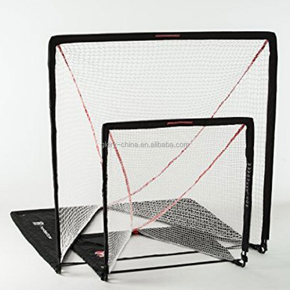 Lacrosse Goal Net Replacement Nylon Bungee Slip Net Frame Sports White 6/'x6/'x7/'