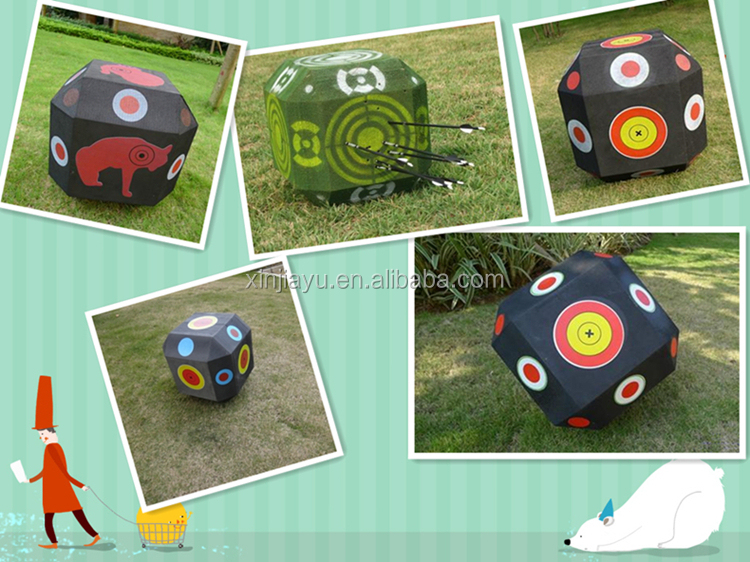 Promotional foam archery target for arrow and bow shooting OEM