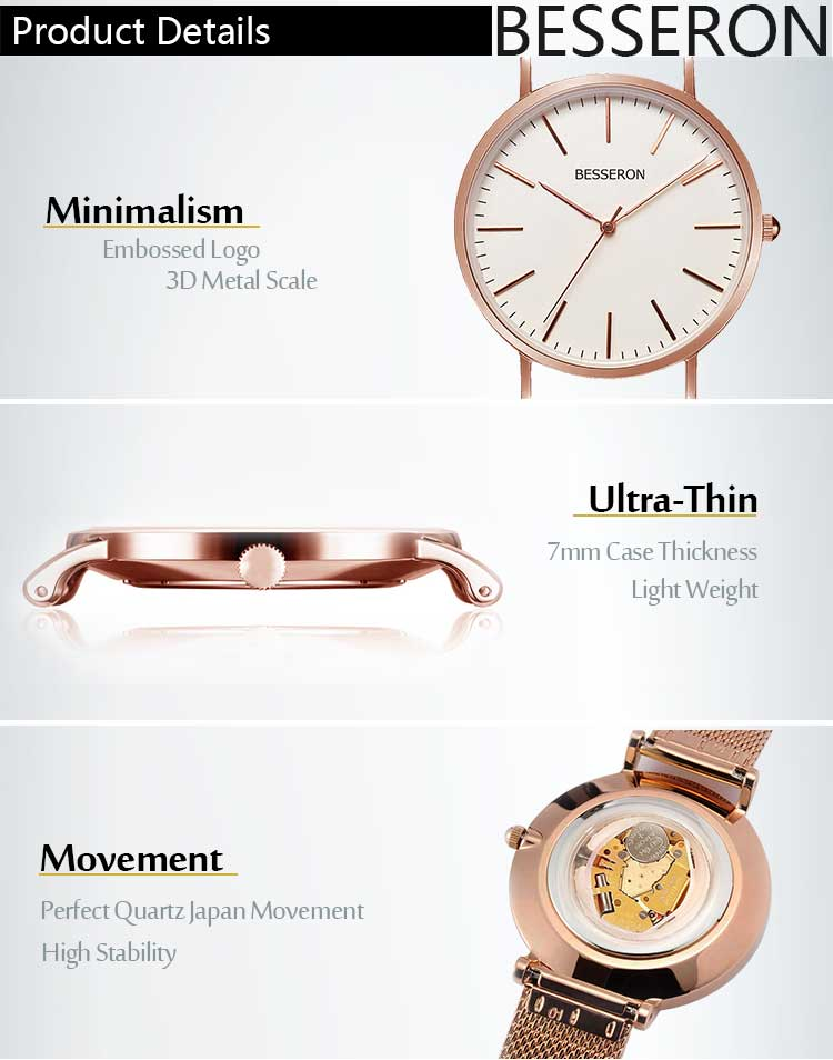 Custom cheap chinese watches low moq simple hand small band mens watches unique wrist watch