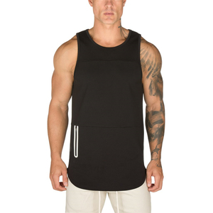Mens fitness sleeveless tank top custom logo printing gyms sports vest with zipper