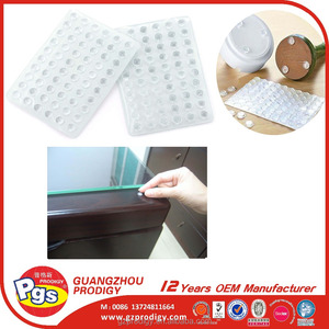 CLEAR table desk glass protection rubber pad