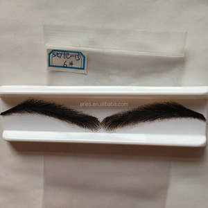 hand tied human hair false eyebrow fake eyebrow for black women