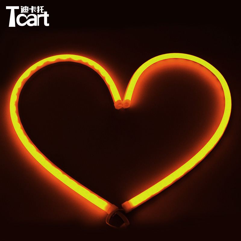 Tcart External Auto Lighting System Ultra Thin 30cm White Yellow Turn Signal Car Lamp Strip LED Neon DRL