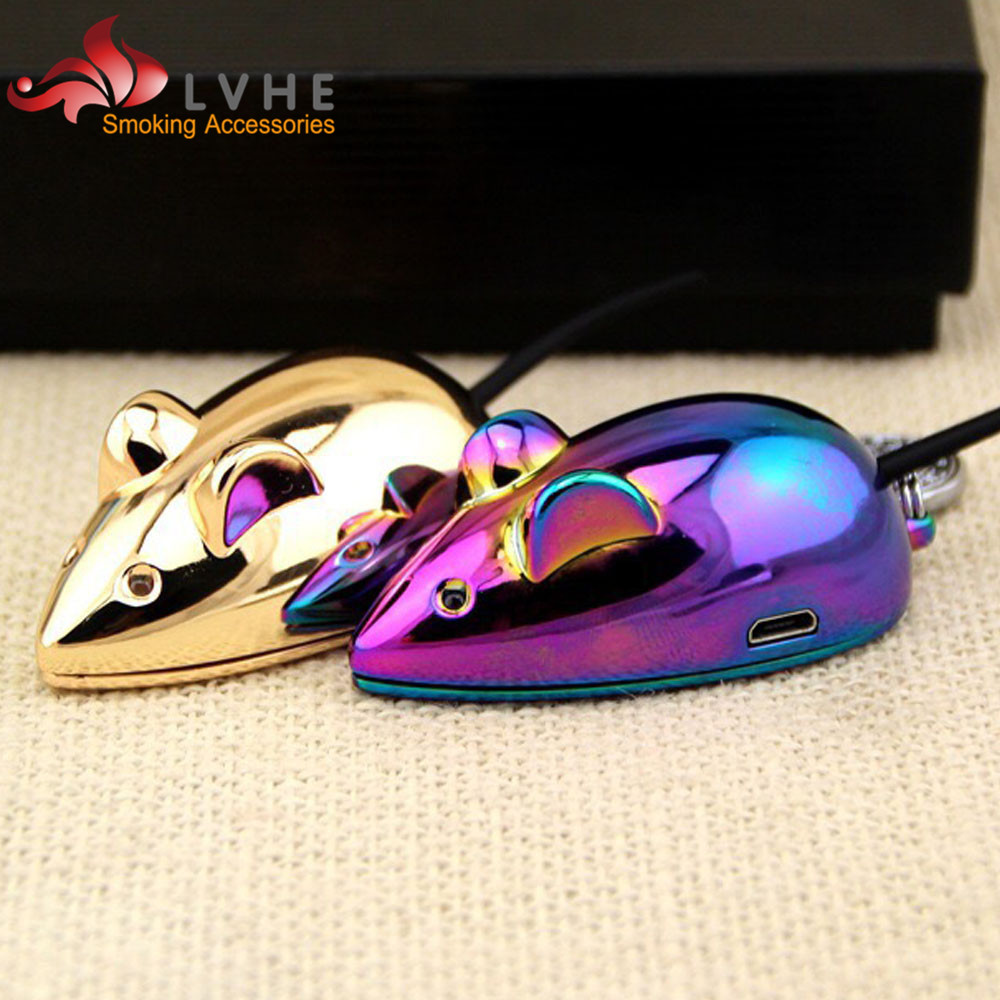 041UB LVHE Mouse Design Zinc Lighter USB