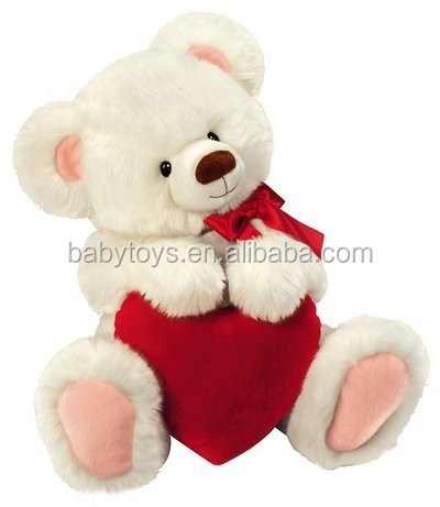 Stuffed Plush Teddy Bear Indoor Valentine Decoration White Big Teddy Bear  Valentine Teddy Bear