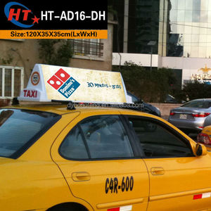 New york city style led taxi car top led sign board