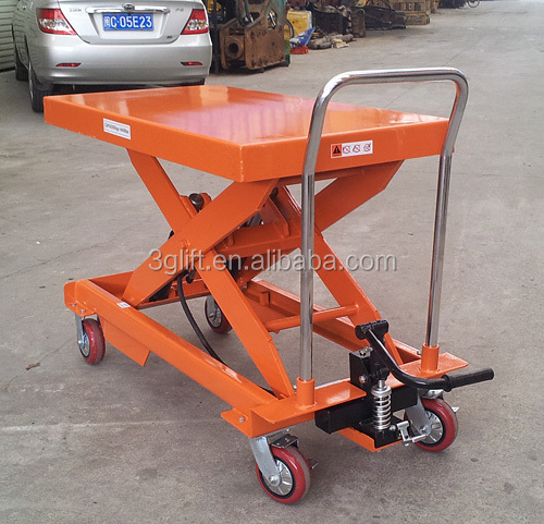 Mobile Scissor Lifter, 300kg.Capacity, 900mm.Max.Height ,CE Approved