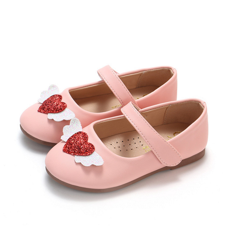 2019 Spring and autumn season girl Love Angel little girl shoe baby casual anti-skid shoes